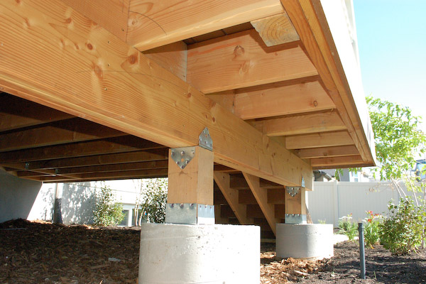 Porch decking joist overhang question building for Balcony overhang